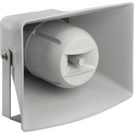 Haut-parleur à chambre de compression actif 2 voies (pavillon musique), résistant aux intempéries, avec module Dante® intégré