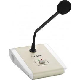 Microphone de table PA avec fonction commande PTT