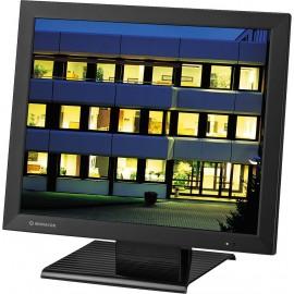 Moniteur couleur LCD, boîtier métallique, pour système de surveillance