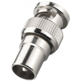 Adaptateur BNC mâle / fiche antenne mâle coaxiale