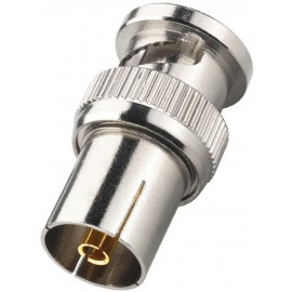 Adaptateur BNC mâle / fiche antenne femelle coaxiale