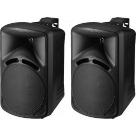 Paire d'enceintes de sonorisation de grande qualité, 40 W, 8 Ω