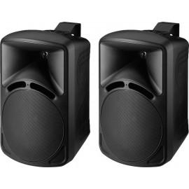 Paire d'enceintes de sonorisation de grande qualité, 75 W, 8 Ω
