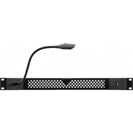 Eclairage pour rack 482 mm (19), 1 U, lampe col de cygne, port USB