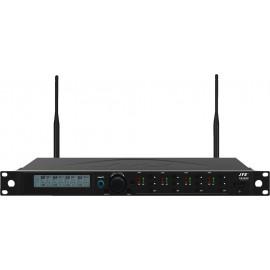 Récepteur UHF PLL 4 canaux, large bande, Diversity, pour système de conférence