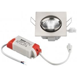 Spot LED encastré, carré, 5 W