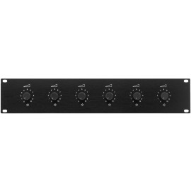 """Unité de réglage de volume 6 voies PA, pour montage en rack 19"""" (482 mm)"""