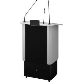 Pupitre professionnel avec système audio sans fil intégré, réglable électriquement en hauteur