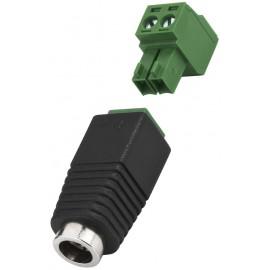 Connecteur basse tension, 5,5/2,1 mm
