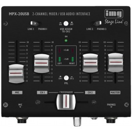 Table de mixage stéréo DJ 3 canaux