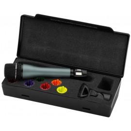 Microphone main avec émetteur multifréquences intégré