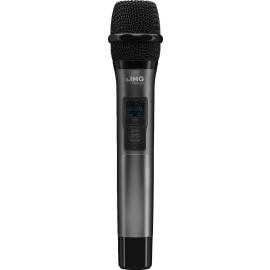 Microphone main avec émetteur multi-fréquences intégré