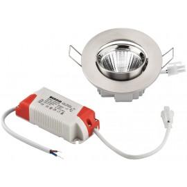 Spot LED encastré, rond et plat, 5 W